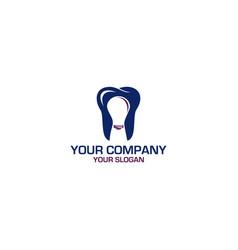 smart dental logo design vector image