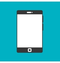 smartphone black display graphic isolated vector image