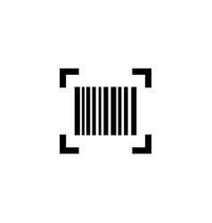 smartphone scanning barcode flat icon vector image