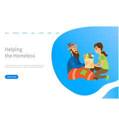 social charity to vagabond helping online vector image