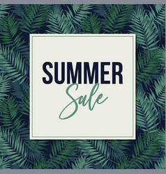 summer sale web banner poster with tropical vector image