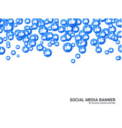 Thumb up background for social network video vector