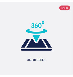 Two color 360 degrees icon from augmented reality vector