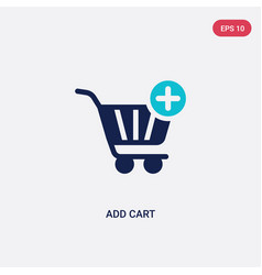 Two color add cart icon from general concept vector
