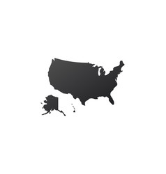usa united states map icon map silhouette vector image