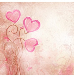 valentines heart flower vector image