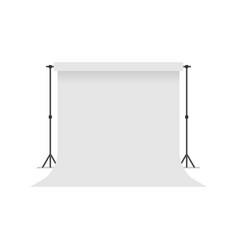 white paper studio backdrop vector image