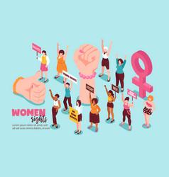 Women rights feminism isometric vector