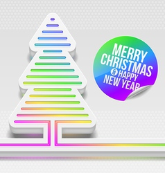 Abstract Christmas tree with multicolor decor vector image vector image