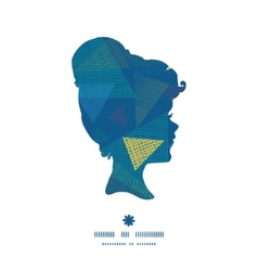 abstract fabric triangles girl portrait silhouette vector image vector image