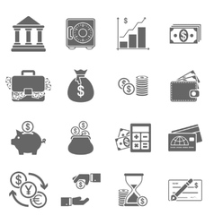 Business Finance Icons vector image vector image