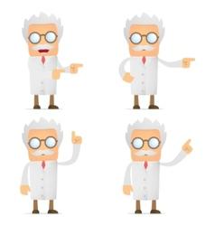 cartoon scientist vector image