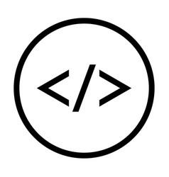 code icon - iconic design vector image