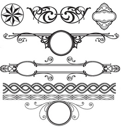 decoration elements pack vector image vector image