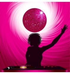 disco dj vector image vector image