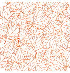 hand drawn maple leaf seamless pattern vector image vector image