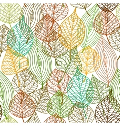 Seamless pattern of autumnal leaves vector image vector image