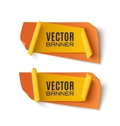 Two orange and yellow abstract banners vector image vector image