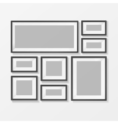 Blank Picture or Foto Frame for Interior vector image vector image
