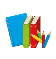Books colors study school desing vector