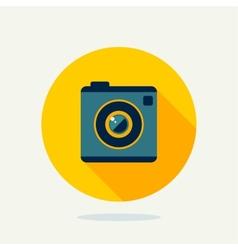 Flat camera icon vector image