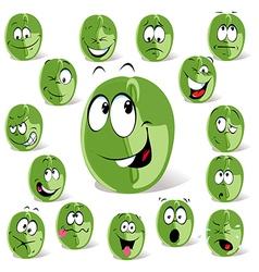 green coffee bean vector image vector image
