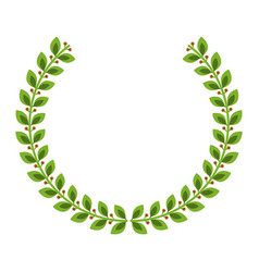 laurel crown icon imag vector image