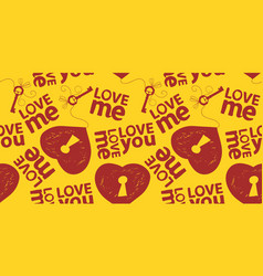 love you me seamless pattern vector image vector image