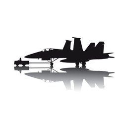 Military aircraft silhouette vector image vector image