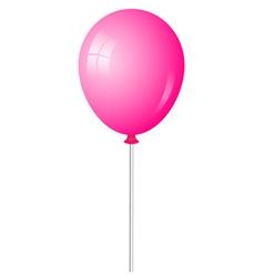 pink baloon vector image vector image