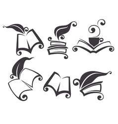 reading and writing vector image vector image