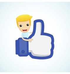 set of with funny cartoon casual character in vector image