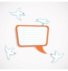 Speech bubble and birds vector image