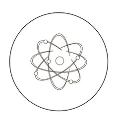 Atom icon outline single education icon from the vector