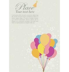 birthday retro background vector image vector image