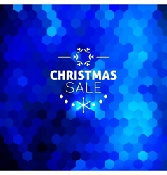 Christmas sale abstract blue background vector image vector image
