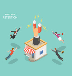 customer retention flat isometric concept vector image