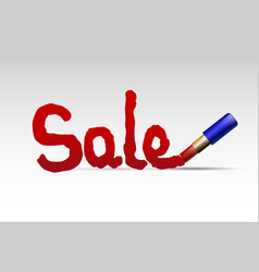 lipstick and sale vector image