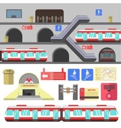 Metro rail station vector image vector image