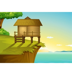 Thai house on top vector image vector image
