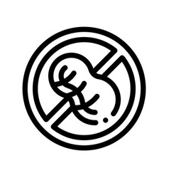 allergen free sign peanut thin line icon vector image