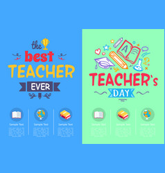 best teacher ever award vector image