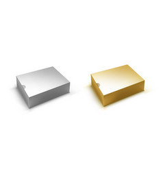 blank silver and gold box with for branding vector image