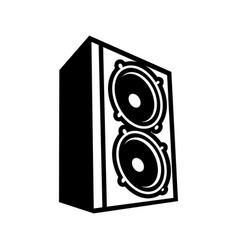 Boom bass speaker symbol logo design vector
