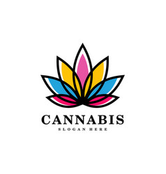 Cannabis marijuana leaf logo vector