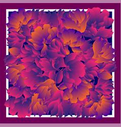 Card bandana print kerchief design napkin dark vector