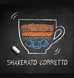 chalked sketch shakerato corretto vector image