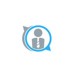 Chat job logo icon design vector