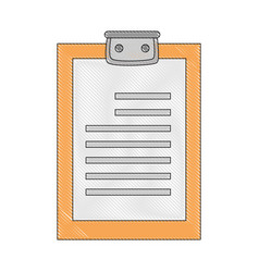 Checklist document sheet vector