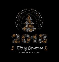 Christmas card and new year 2018 poster christmas vector